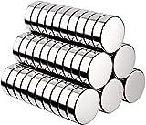 BUSATIA Magnete, 60 Stück Rund Magnets Mini Magneten für Magnettafel, Whiteboard, Magnetboard, Pinnwand, inkl. Aufbewahrungs Box (10x3 mm)