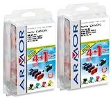 10x Patronen für Canon Multipass F 80 (4xBk, 2xC, 2xM, 2xY) Qualität von Armor Druckerpatronen kompatibel für F80, 4x29ml, 6x16ml