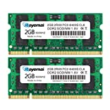 DUOMEIQI 4GB Kit (2X2GB) PC2-6400 RAM DDR2 800 DDR2 Sodimm 2RX8 1,8V CL6 Laptop Arbeitsspeicher...