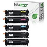 5 Toner kompatibel zu Canon CRG 718 für Canon i-SENSYS LBP-7200, LBP-7600, LBP-7680, MF-8300, MF-8330, MF-8500 Series (Nicht für I-Sensys MF-724cdw) - Schwarz je 3.500 Seiten, Color je 2.900 Seiten