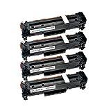 4 Toner kompatibel für Canon Cartridge 718 I-Sensys LBP-7200 7210 7600 7660 7680 C CDN CN Series CX (Nicht für I-Sensys MF-724cdw) - 2659B002-2662B002 - Schwarz 3500 Seiten, Color je 2900 Seiten