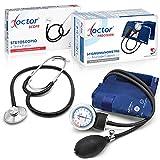 AIESI® Blutdruckmessgerät Manuelles Professionelles Aneroid oberarm klassisches modell für erwachsene mit stethoskope DOCTOR PRECISION # 24 monate garantie