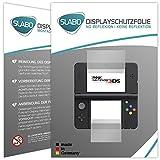 Slabo 2 x Displayschutzfolie kompatibel mit New Nintendo 3DS Displayschutz Schutzfolie Folie No...