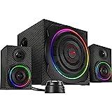 Speedlink Gravity Carbon RGB 2.1 Subwoofer System - Lautsprechersystem mit Bluetooth-Verbindung für...