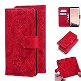 Snow Color Galaxy S8 Hülle, Premium Leder Tasche Flip Wallet Case [Standfunktion] [Kartenfächern] PU-Leder Schutzhülle Brieftasche Handyhülle für Samsung Galaxy S8/G950F - COTX020279 Rot