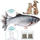VZATT Katzenspielzeug Fisch, Interaktives Zappelnder Fisch Spielzeug für Katzen