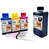 550ml Nachfülltinte (BK 250ml ,C /M /Y je100ml) kompatibel für Druckerpatronen HP 304 HP 304XL...
