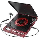Tragbarer CD Player, 1000 mAhPersönlicher Wiederaufladbar MP3 CD Player mit Doppelte 3.5mm...