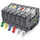 Pristar 12mm Kompatible für Brother TZe-131 TZe-231 TZe-431 TZe-531 TZe-631 TZe-731 Tze 12mm 0.47 Schriftband für Brother PT PT-H107B P710BT H100LB E110 H100R D210 H200 H110 D400 H101C D200 D600VP