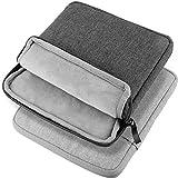 Douper Schutztasche für DVD CD Laufwerk, Weiche Tasche Schutzhülle Case Leinwand Soft Tasche -2 Stücke, Grau Schwarz