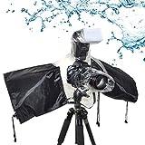 Regenschutzhülle für Fotokamera Wasserdichter Regenschutzhaube Kamera Regenschutzhülle - Universal, Regenschutz für Fotografie, Zubehör für Fotoapparat, Schwarz