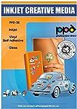 PPD A4 x 10 Blatt Inkjet PREMIUM Aufkleberfolie Weiß Glänzend Selbstklebend - mikroporös...