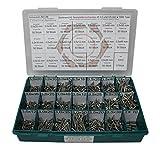 Sortiment Edelstahl A2 Schrauben, Durchmesser 3,0 und 3,5 mm, 1005 Teile ; Holzschrauben/Spanplattenschrauben mit verstärktem Kopf; Material VA V2A