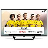 CHiQ L42G6F | TV 42 Zoll Full Hd Smart TV (105cm) Fernseher Rahmenlos Android TV Smart TV/Android...