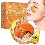 Augenpads,Eye Mask, Augenmaske, Anti-Aging-Film, Augenklappe, Vitamin C-Kollagen-Augenmaske, Augenringe, Falten, feine Linien, Tränensäcke, Schwellungen (60pcs)