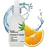 InstaNatural Vitamin C Gesichtstoner – 100% natürliche & organische Anti-Aging Porenverfeinerung & Gesichtsbehandlung – mit Haselnuss, Aloe Vera & MSM – nährt & spendet Feuchtigkeit – 120 ml