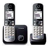 Panasonic KX-TG6812GB DECT Schnurlostelefon DUO ohne Anrufbeantworter (strahlungsarm, Eco-Modus, GAP...