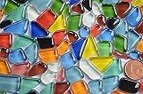 200g (32,95 € / KG) Soft Glas-Mosaiksteine unregelmäßig (Polygonal) glänzend, nicht lichtdurchlässig (Buntmix)