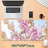 Wtbew-u Gaming Mauspad, Große Mausmatte Große Tastaturmatte Landschaft Außen Blume Gras Architektur Erweitert Mousepad 900x400x3mm für Laptop Computer Home Office (Farbe: f)