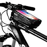 Fahrrad Rahmentasche Wasserdichte Fahrradtasche, Handyhalterung, Aufbewahrungstasche mit Touchscreen, Vordere Oberrohrtaschen, für iPhone 7 Plus/6s Plus/6 Plus/Samsung Weniger als 6.2 Zoll Smartphones