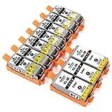 ESMOnline 10 kompatible Druckerpatronen als Ersatz für Canon PGI-35/CLI-36 zu Canon PIXMA TR150 TR150WB iP100 iP100WB iP110 iP110WB mini260 mini320