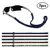 MINI TREE 5 PCS Brillenband Sport Sonnenbrillen Lanyard Verstellbare rutschfeste Brillenhalterung Glasschnur zum Laufen Camping Lesen im Freien (Farben mischen)