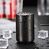 Baomasir Automatischer Flaschenöffner/Kapselheber, Zum Öffnen von Kronkorken-Flaschen, Gebürstetes Aluminium, Push&Pull, Schwarz