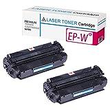 EP-W Ersatz-Tonerkartusche für Canon LBP-2460 LBP-3260 Laserdrucker, hohe Produktion, 1 Schwarz, 2 Schwarz, 4 Stück Größe 2-teilig