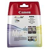 Tintenpatronen für Canon Pixma MX410, Original Canon, 2er-Pack