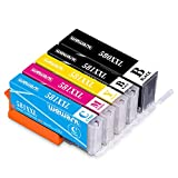 Wewant Kompatible PGI-580XXL CLI-581XXL Tintenpatrone als Ersatz für Canon 580 581 Multipack für Canon Pixma TR7550 TR8550 TS6150 TS6151 TS6250 TS6350 TS705 TS8150 TS8250 TS9550 (PGBK/BK/C/M/Y)