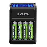 VARTA LCD Plug Ladegerät (für AA/AAA/9V und USB-Geräte) schwarz (Design kann abweichen)