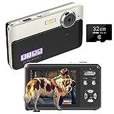 Digitalkamera Kompaktkameras 24MP Wiederaufladbare 2,4 Zoll TFT-Bildschirm Fotoapparat Digitalkamera...