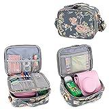 Teamoy Reisetasche Kompaktkamera Taschen für fujifilm instax Mini 9 und Mini 8, Sofortbildkamera Tasche für die Mitnahme von fujifilm instax Mini 9 und Kamera Zubehör, Pfingstrose