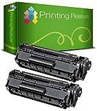 Printing Pleasure 2 Toner kompatibel für HP Laserjet 1100 3200 Canon LBP-1110 LBP-1120 LBP-250 LBP-350 LBP-200 LBP-800 LBP-810 LBP-5585 LBP-P420 Serie | C4092A 92A EP22 1550A003