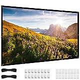 72 Zoll Projektor Leinwand, 16:9 HD 4K Projektionsleinwand, faltbar, keine Falten, tragbar, 70 Beamer leinwand kleine Projektions-Filmleinwand für Außen- und Innenbereich, Heimkino