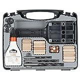 wolfcraft Universal-Meisterdübler-Set 4645000; 78-teiliges Komplett-Starter-Set zur Herstellung von sauberen Holzverbindungen mit Ø 6, 8 und 10 mm Holzdübeln