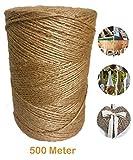 500 Meter Garten Schnur Jute Kordel Garn Natur Bastelband Paketschnur Juteband Kunsthandwerk Verpackungs DIY String Dekoration Seil