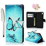 YOKIRIN Hülle Kompatibel für Sony Xperia XA Wallet Case PU Leder Tasche Flipcase Schuthülle Stand...