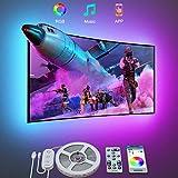 Govee LED Strip 3m, LED TV Hintergrundbeleuchtung TV LED Strip für 46-60 Zoll Fernseher und PC Monitor Bildschirm steuerbar via Fernbedienung oder App RGB USB-Betrieb