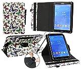 emartbuy® PADGENE 9 Zoll 3G Phablet Tablet PC Universal (9-10 Zoll) Mehrfarbig Schmetterlinge 360GradrotierendeStandFolioGeldbörseTascheHülle + Schwarz Eingabestift