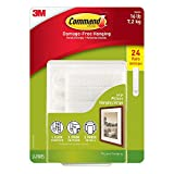 Command Picture MET6 & Frame Hanging Strips Value Pack MT5V, 24-Pairs Large, White