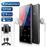 BENJIE 32 GB 2,4'MP3 Player Voll-Touchscreen-HiFi-Bluetooth-Player, UKW Radio, Diktiergerät mit...