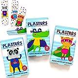 Kinder Superhelden Pflaster / x32 Streifen / Latexfrei / Hypoallergen / Waschfest / Atmungsaktiv / / Zwei gemischte Boxen