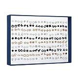100 Paar Ohrstecker Set, Einfache Geometrische AushöHlen Ohrringe FüR Damen MäDchen, Schwarz, Silber Und Gold Verhindern Allergie Ohrstecker