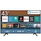 Hisense H43BE7000 108 cm (43 Zoll) Fernseher (4K Ultra HD, HDR, Triple Tuner, Smart-TV, Standard)...