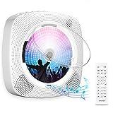 Gueray CD-Player für Wandmontage mit Bluetooth HiFi Lautsprecher Fernbedienung LED-Display...