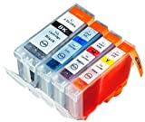4 Druckerpatronen kompatibel für Canon Pixma IP3300 IP3500 MP500 ix4000 ix5000 mit Chip