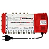 PremiumX Deluxe Multischalter PXDMS 5/16 SAT TV Matrix Signal-Verteiler Multiswitch 1 Satellit 16 Teilnehmer HDTV FullHD 4K UHD | 5in 16out Quad-tauglich