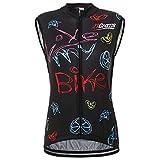 21Grams Fahrradtrikot für Damen, ärmellos, atmungsaktiv, für MTB Rad- und Outdoor-Sport, schnelltrocknend, Damen, XXL