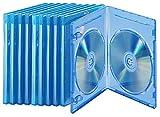 PEARL Leere Blu-ray-Hülle: Blu-ray Soft-Hüllen blau-transparent im 10er-Pack für je 2 Discs...